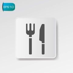 Food zone symbol ,vector