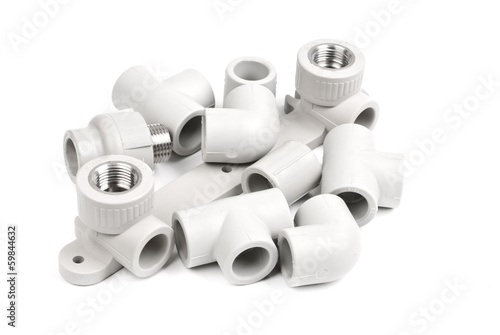 Fitting - PVC connection coupler to connect polypropylene tubes
