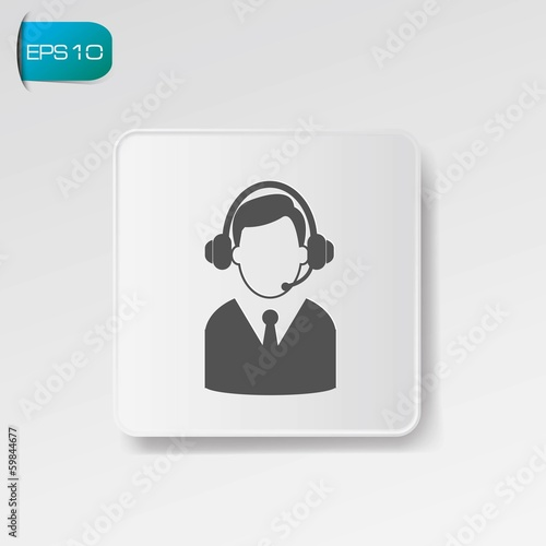 Call center symbol,vector