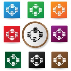 Sound icons on colorful buttons,vector