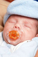 Little newborn baby boy