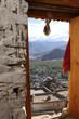 A beautiful view from the door of the Tsemo monastery, Leh