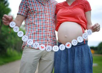 paar wartet auf baby