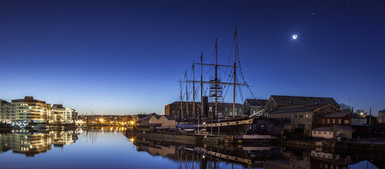 Brunel's historic SS Great Britain at Bristol by Moonlight