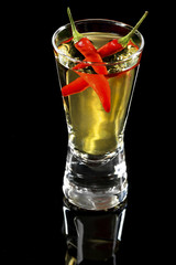 Red Hot Pepper Vodka or Tequila Shooter