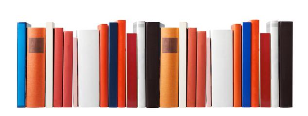 Blank books on white