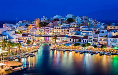 Fototapeta wyspa Kreta nocą Grecja