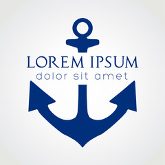 Anchor icon. Vector symbol illustration.