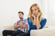 Young couple have problems in relationship