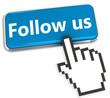 Social network concept - Follow Us button