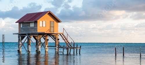 Home on the Ocean in Ambergris Caye Belize - 59851614