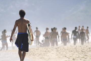 Brazilian Surfer Ipanema Beach Rio de Janeiro Brazil