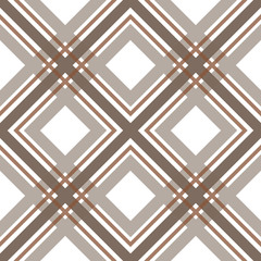 Brown checkered seamless pattern repeat