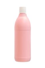 Plastic bleach bottle isolated on white background