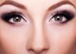 Professional make up close up shot, beauty