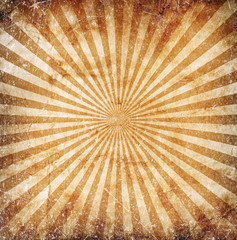 Grunge orange sun rays background