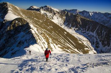 Hiking at winter