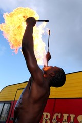 Fire Eater at the Circus