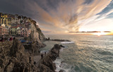 Sunset in Manarola ( 5 Terre )
