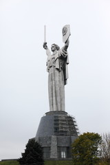 Mother of the Fatherland monument in Kiev, Ukraine