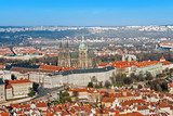 Panorama of Prague with St Vitus Cathedral