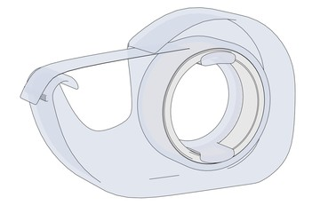 cartoon image of office celotape