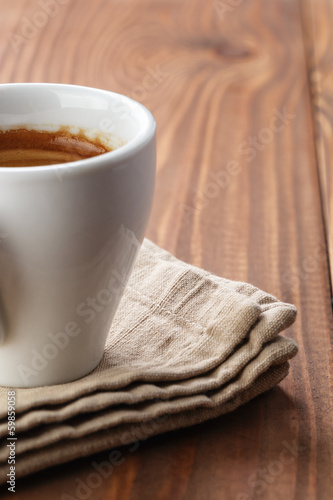 frezshly made cup of double espresso