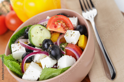 light greek salad