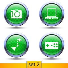 second set of four realistic icons