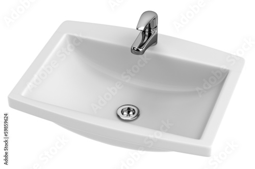 realistic 3d render of basin