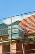 Dachdeckung auf Klinkerhaus