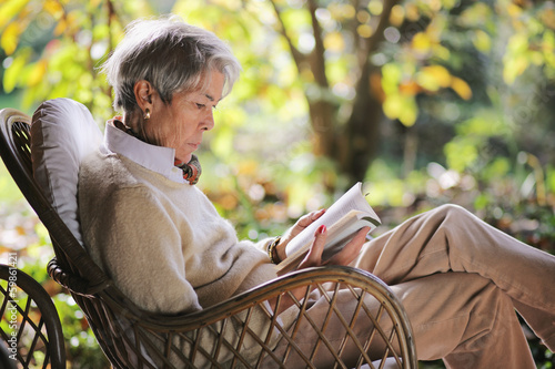 Senior lady relax outdoor