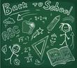 chalkboard back to school background