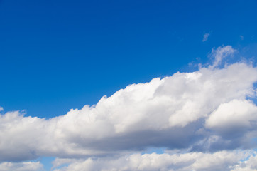 clouds and blue sky on a sunny day