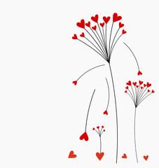 Valentine card flower