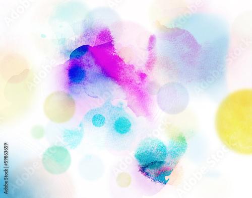aquarell abstrakt kreise bunt © bittedankeschön