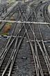 Eisenbahn Geleise mit Weichen