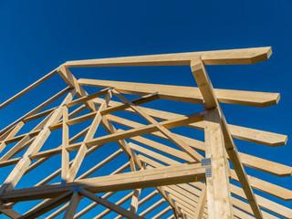 Dachstuhl eines neuen Daches