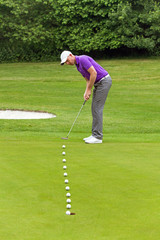 Golfer putting multiple frame
