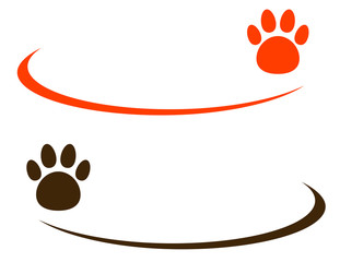 background with pet paw