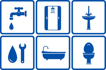 icons with isolated bath objects