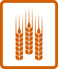 icon with wheat ears