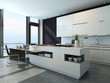 Modern design kitchen interior