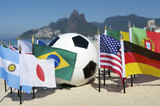 International Football Country Flags Soccer Ball Rio Brazil poster