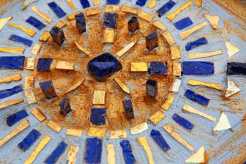 Beautiful blue and gold mandala