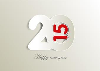 2015 - Happy new year - gris et rouge