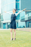 Successful Businesswoman in front Office Buildings