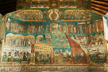 Voronet Monastery - Last Judgement painting