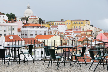 Lookout Point of Portas do Sol, Lisbon (Portugal)
