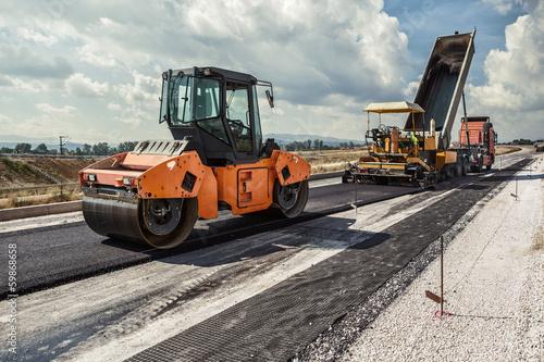 canvas print picture Road Construction